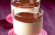 Verrines puits d'amour pana cota et chocolat intense