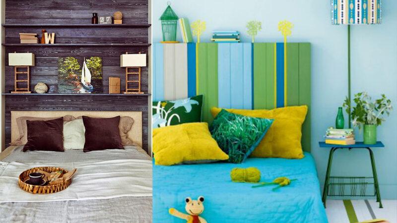 07843307 photo tete de lit palette 800x450 - Une tête de lit en palette colorée