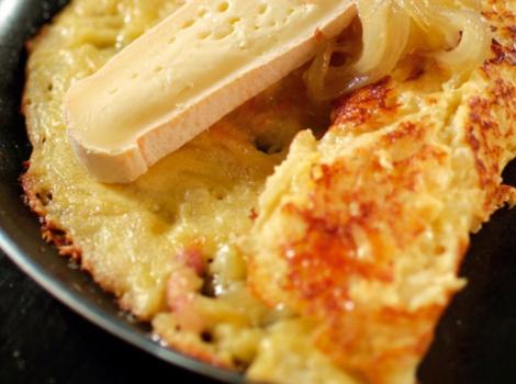 Crêpes savoyardes lardons fromage pomme de terre - Crêpes salées