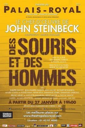 e43b3476b403dd03c7177c6aac7125b9 - Des Souris et des hommes au Théâtre du Palais Royal