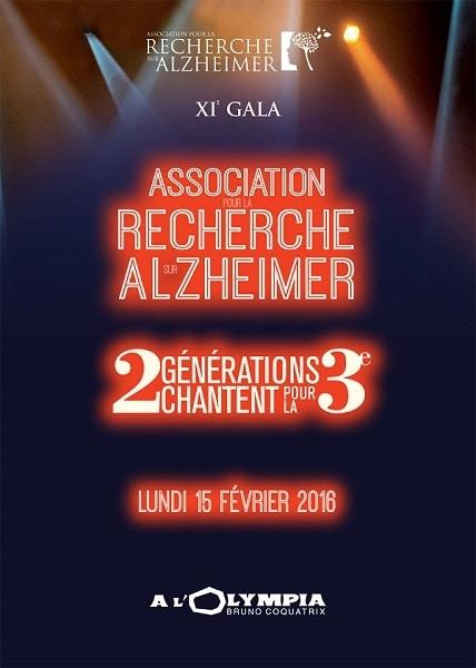 """98a582b66f9604c5e197e648c3b2d22e - """"2 Générations Chantent pour la 3ème"""", concert de l'Association pour La Recherche sur la maladie d'Alzheimer à l'Olympia"""