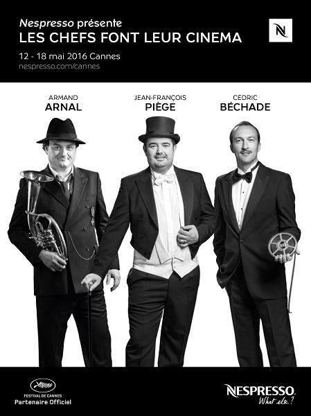 """Nespresso LCFLC 2016 744e0 - """"Les Chefs font leur Cinéma"""" et Nespresso vous invite au Festival de Cannes."""