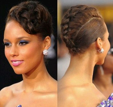 Coiffure tresse Africaine Alicia Keys