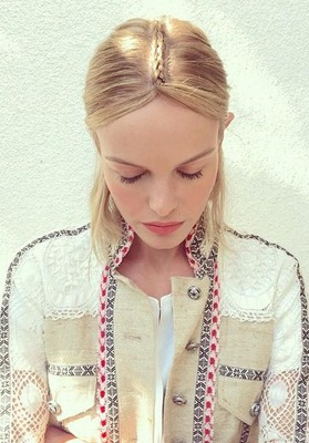 la raie tressée de Kate Bosworth