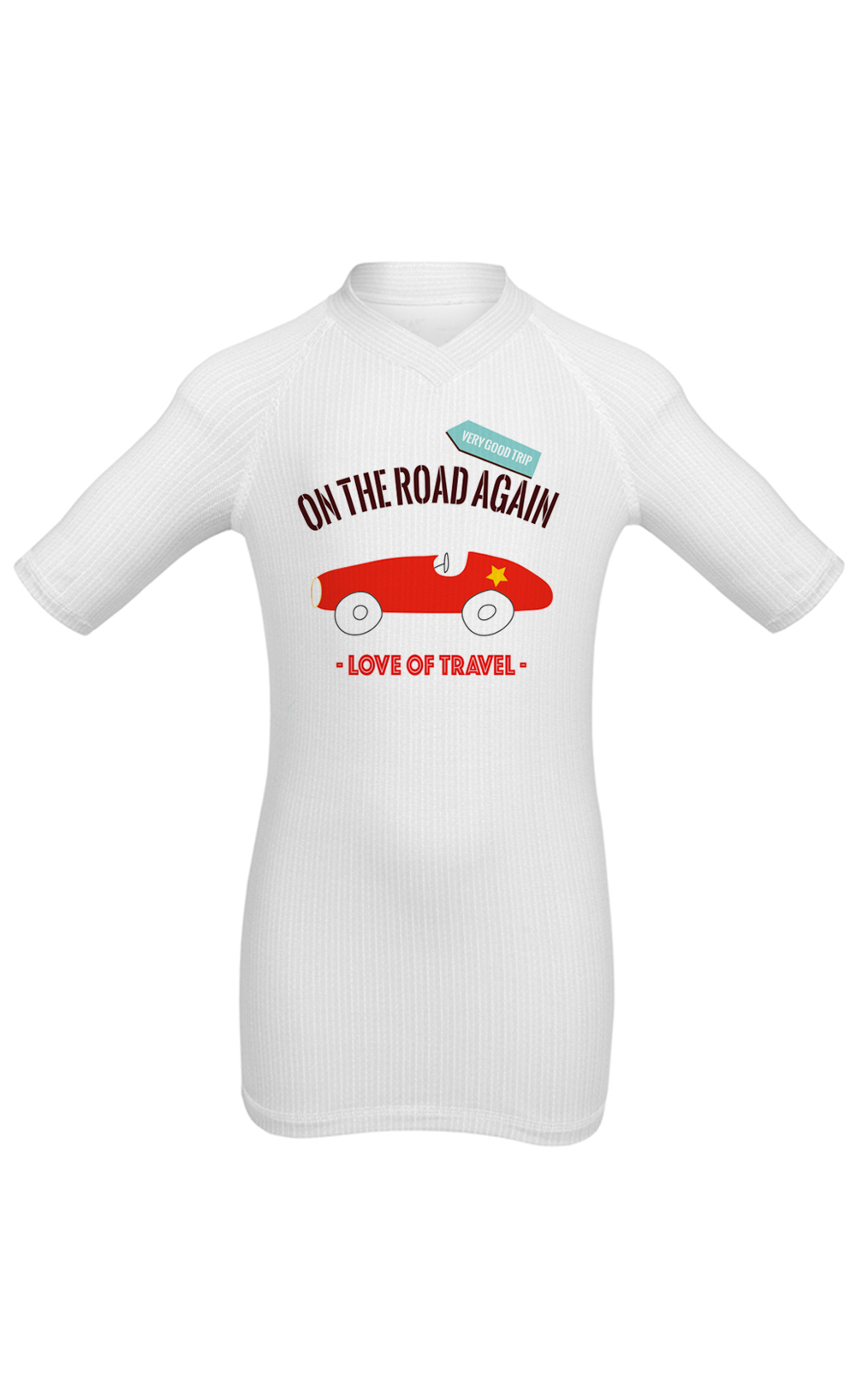 Wearismyboat t shirt enfant On the road again love 11947 - Vêtements Wear Is My Boat : la solution contre le mal de mer et de transports