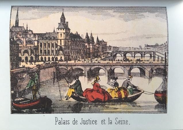 Palais de Justice et la Seine cd45d 1 - Paris par les images d'Epinal