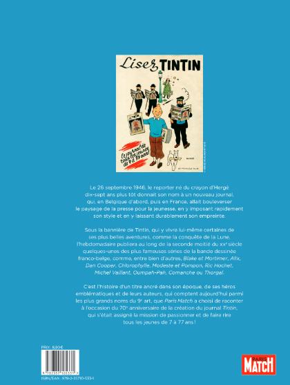hors serie tintin 4eme de couv 4b0b1 - Numéro spécial Hors Série de PARIS MATCH pour le 70ème anniversaire du Journal Tintin