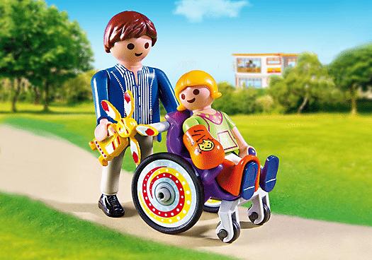 enfant fauteuil roulant playmobil 2eea1 - Comment parler sereinement des problèmes de santé aux enfants.