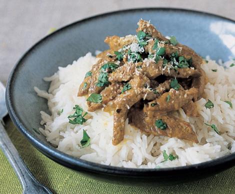recette au wok agneau au curry