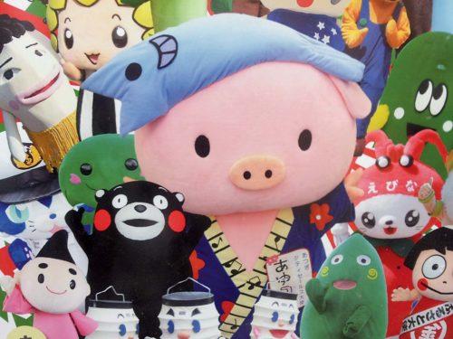 Mascottes Japonaises - elles séduisent de plus en plus les femmes nipones