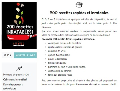 Collection INRATABLES num. 1 de Larousse - Lectures gourmandes de mars