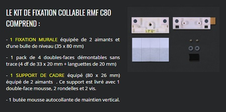 Kit de fixation collable - Reverse Magnet, accrochages fastoches