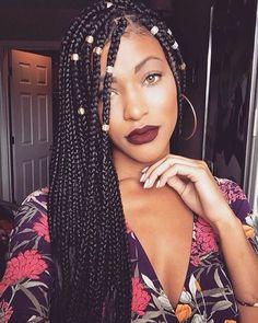 box braids coiffure africaine tresses - Coiffure africaine - Coiffure Tresses afro & Rajout - Cheveux crépus