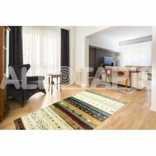 tapis ethnique beige a courtes meches de salon lino e1504116024901 500x500 - A chaque pièce son tapis ! Tendances Déco