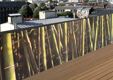 Brise-vue de jardin imprimé Bambou