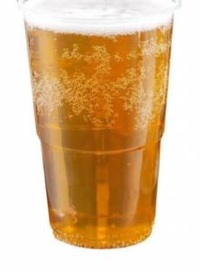 verre plastique bière
