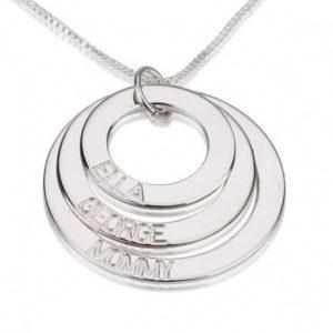 collier en argent 925 avec trois anneaux graves prenoms personnalises ref g2 300x300 - 5 bonnes raisons d'offrir un collier gravé