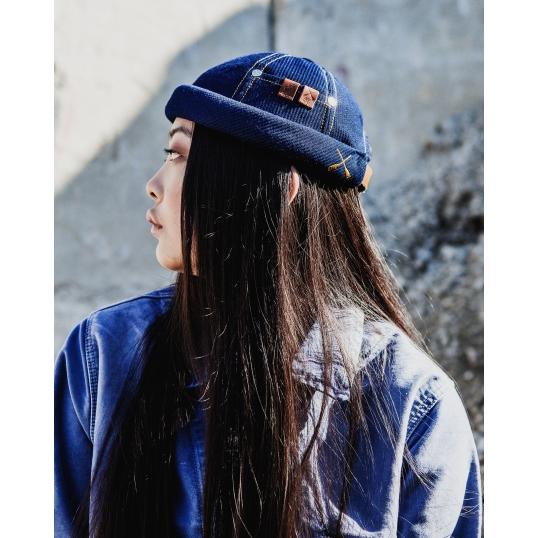 miki workwear bleu indigo femme - Tendance mode Bonnet Miki breton pour toutes les saisons