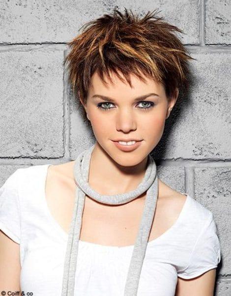 coiffure coupe courte degradee femme e1560868939488 - Coiffez-vous avec une coupe courte femme - Coiffure Femme Tendance 2020