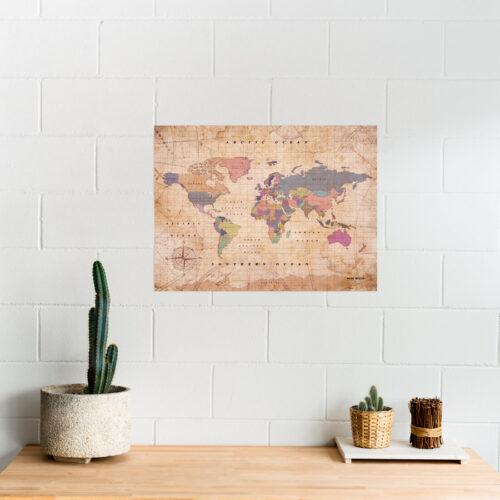 carte décoration monde