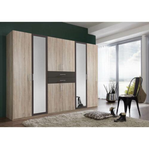 armoire adulte contemporaine 270 cm coloris chene lave hortensia 500x500 - Décorer et meubler sa chambre sur mesure