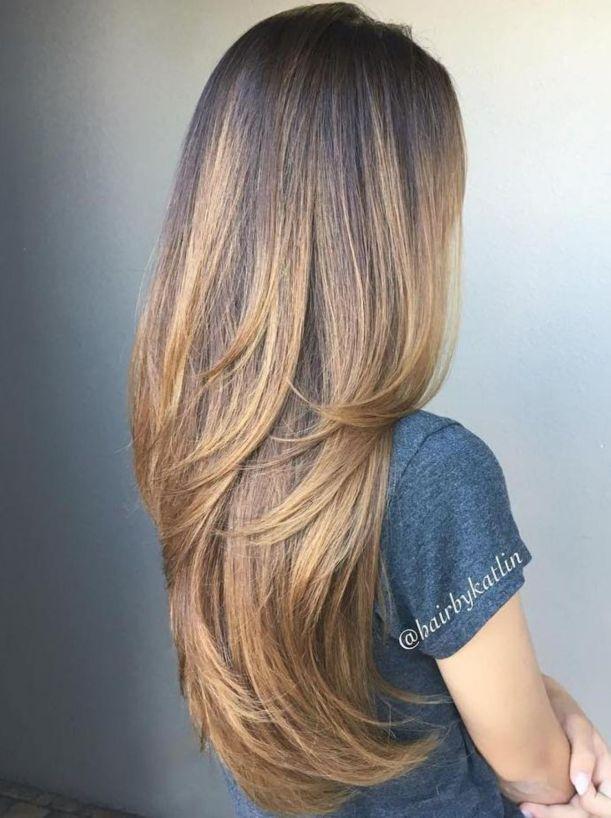 coupe cheveux longs femme droit chic - Coiffures mignonnes et coupes pour cheveux longs