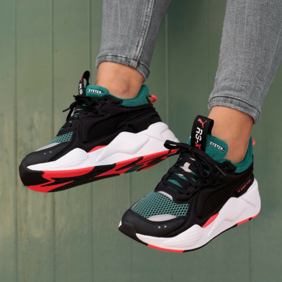 sneakers Puma RS X Soft Case Black Green e1610701751906 - Sneakers : En 2020, la tendance est à l'extravagance !