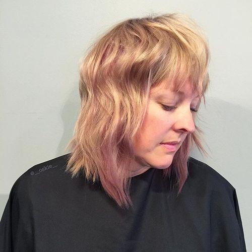 40 coupes de cheveux moyennes avec la frange les plus universelles 5e414be876584 - 40 coupes de cheveux mi long avec la frange les plus universelles