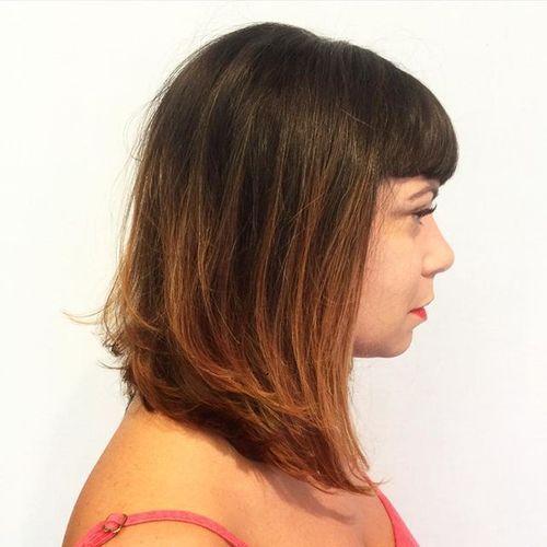 40 coupes de cheveux moyennes avec la frange les plus universelles 5e414be8e0da6 - 40 coupes de cheveux mi long avec la frange les plus universelles