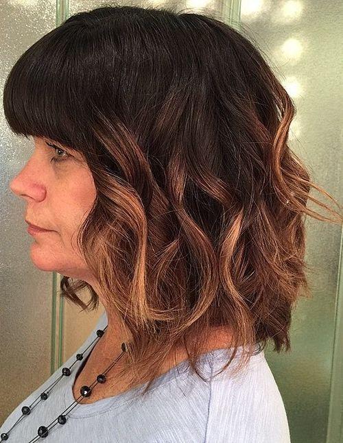 40 coupes de cheveux moyennes avec la frange les plus universelles 5e414be93e0b0 - 40 coupes de cheveux mi long avec la frange les plus universelles