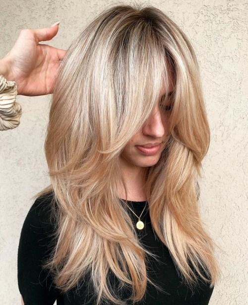 50 coupes de cheveux en couches mignonnes et sans effort avec une frange 5e415821bc753 - 50 coupes de cheveux en couches mignonnes et sans effort avec une frange