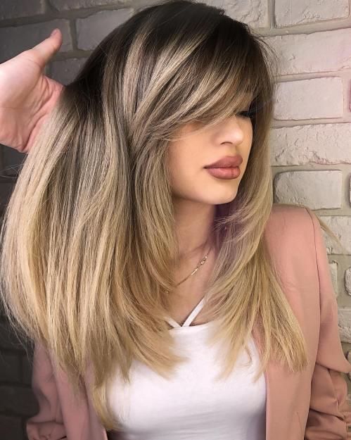 50 coupes de cheveux en couches mignonnes et sans effort avec une frange 5e41582213319 - 50 coupes de cheveux en couches mignonnes et sans effort avec une frange