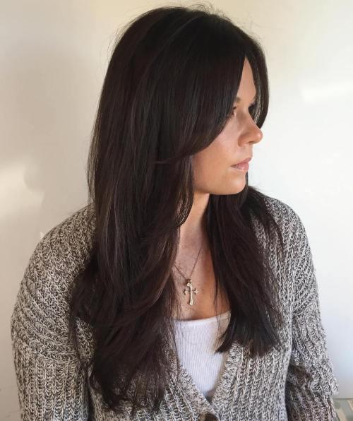 50 coupes de cheveux en couches mignonnes et sans effort avec une frange 5e415826d91a6 - 50 coupes de cheveux en couches mignonnes et sans effort avec une frange