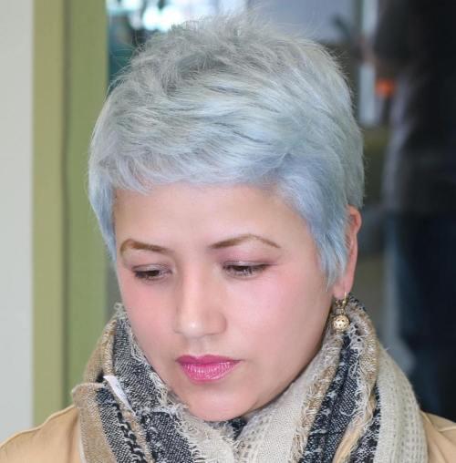 Short Gray Pixie