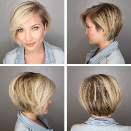 Short Bob Hairstyle For Round Faces