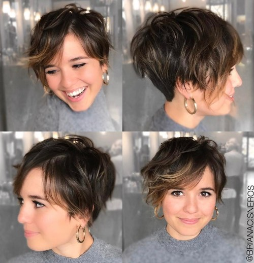 Short Hair With Undercut For Round Faces