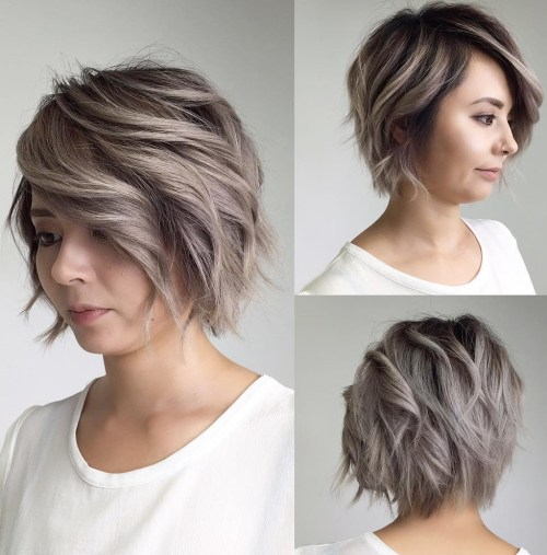 Side-Parted Razored Bob