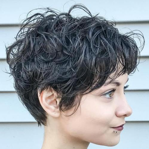 Long Curly Pixie Hairstyle