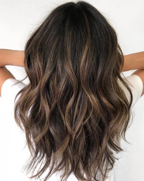 60 coiffures avec des cheveux brun fonce avec des reflets 5e4281090d000 - 60 coiffures avec des cheveux brun foncé avec des reflets