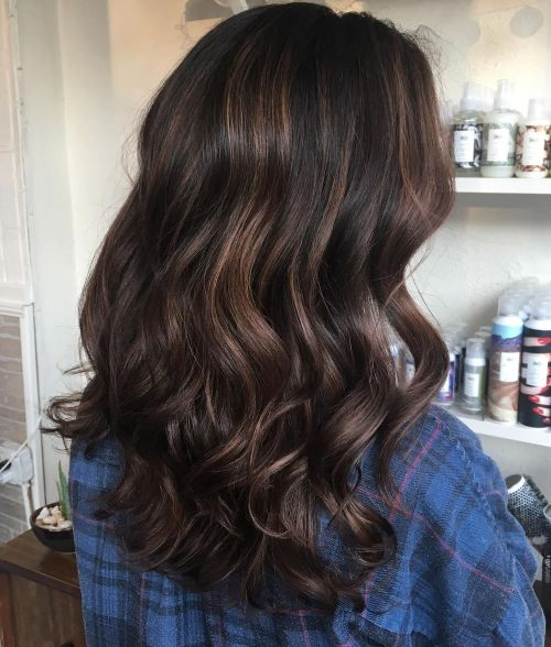 Brown Highlights for Curly Hair
