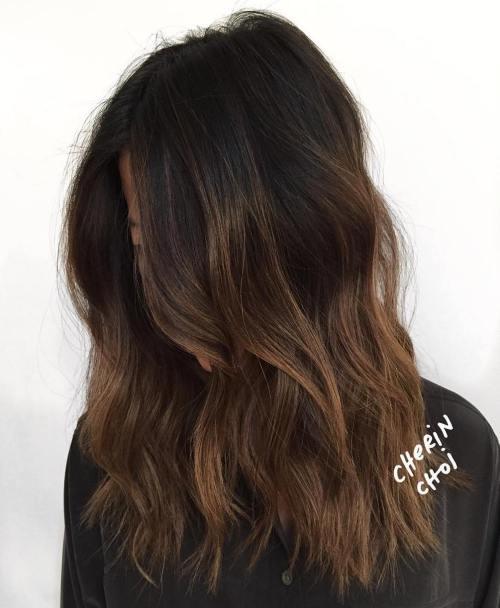 60 coiffures avec des cheveux brun fonce avec des reflets 5e42810a862b3 - 60 coiffures avec des cheveux brun foncé avec des reflets