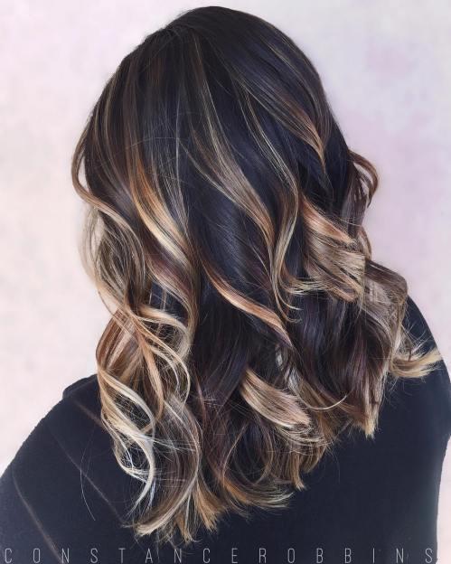 60 coiffures avec des cheveux brun fonce avec des reflets 5e42810b25014 - 60 coiffures avec des cheveux brun foncé avec des reflets