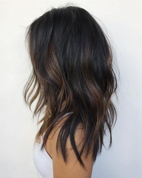 60 coiffures avec des cheveux brun fonce avec des reflets 5e42810c2ede7 - 60 coiffures avec des cheveux brun foncé avec des reflets