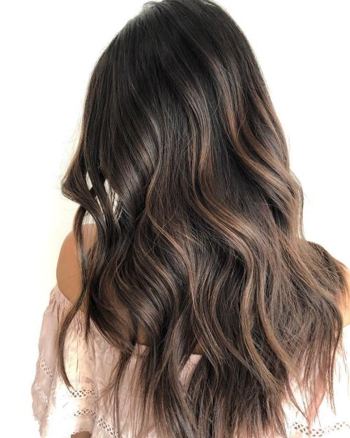 60 coiffures avec des cheveux brun fonce avec des reflets 5e42810c4a946 - 60 coiffures avec des cheveux brun foncé avec des reflets