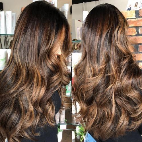 60 coiffures avec des cheveux brun fonce avec des reflets 5e42810ef388f - 60 coiffures avec des cheveux brun foncé avec des reflets