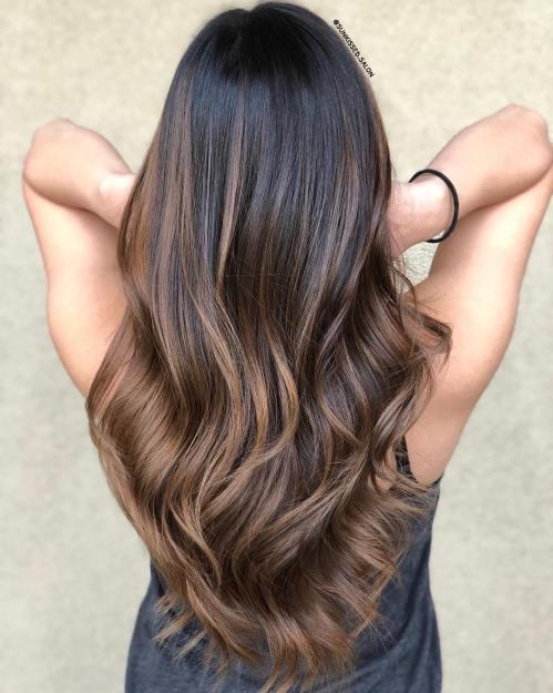 60 coiffures avec des cheveux brun fonce avec des reflets 5e42810fa3a00 - 60 coiffures avec des cheveux brun foncé avec des reflets