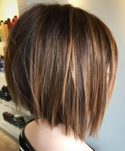 Medium Angled Choppy Bob