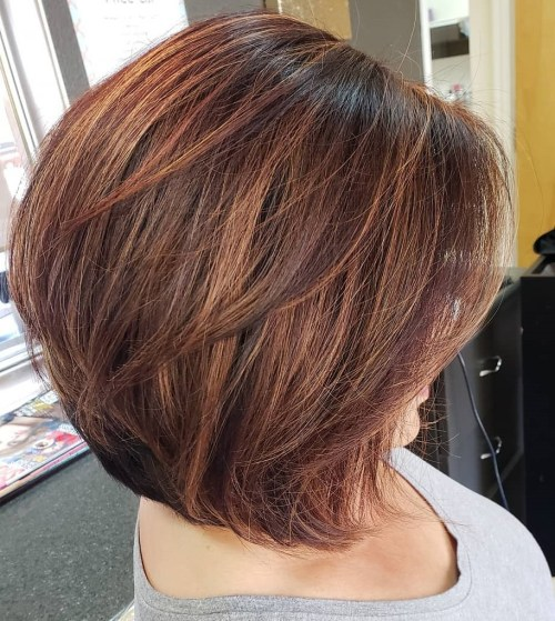 Voluminous Layered Bob Blowout