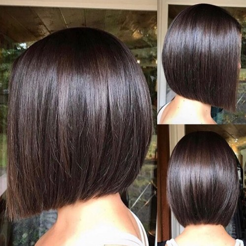 Chic Blunt Bob For Brunettes
