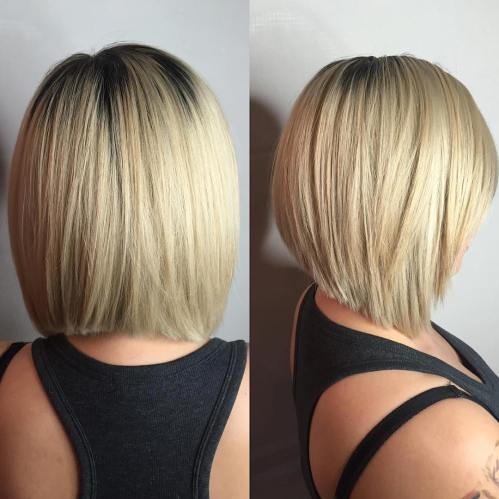 Straight Angled Shoulder-Length Bob